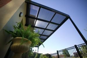 Pergola with Sun Screen Roof Panels